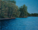 Lake-on-the-Mountain, Picton: Oil on Canvas. 22″ x 28″.