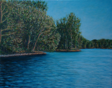 Lake-on-the-Mountain, Picton: Oil on Canvas. 22″ x 28″.