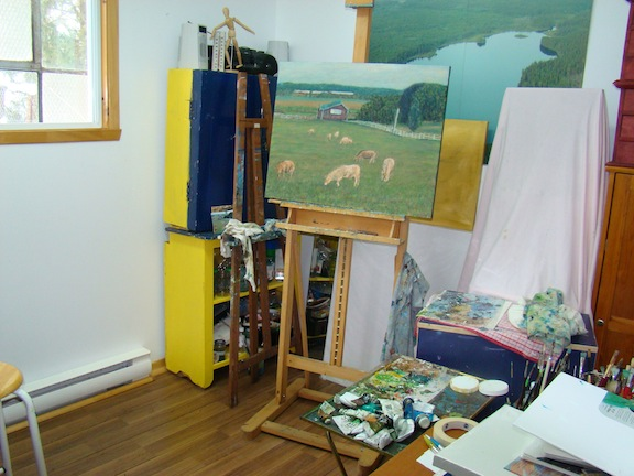 My Studio, in all its finery.